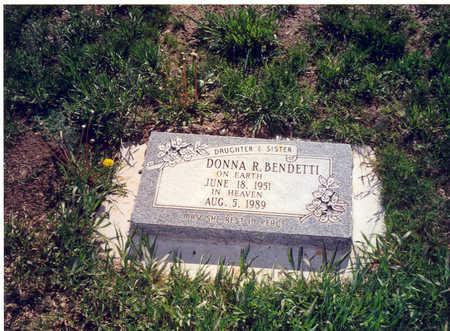 BENDETTI, DONNA R. - Garfield County, Colorado   DONNA R. BENDETTI - Colorado Gravestone Photos