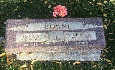 BROWNE, FRANCIS - Garfield County, Colorado | FRANCIS BROWNE - Colorado Gravestone Photos