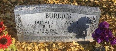 BURDICK, DONALD L - Garfield County, Colorado   DONALD L BURDICK - Colorado Gravestone Photos
