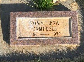 CAMPBELL, ROMA LENA - Garfield County, Colorado   ROMA LENA CAMPBELL - Colorado Gravestone Photos