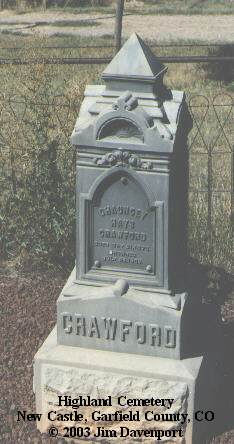 CRAWFORD, CHAUNCEY HAYS - Garfield County, Colorado | CHAUNCEY HAYS CRAWFORD - Colorado Gravestone Photos