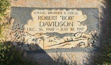 "DAVIDSON, ROBERT ""BOB"" - Garfield County, Colorado | ROBERT ""BOB"" DAVIDSON - Colorado Gravestone Photos"