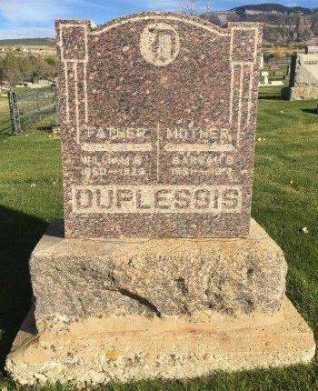 DUPLESSIS, WILLIAM E - Garfield County, Colorado | WILLIAM E DUPLESSIS - Colorado Gravestone Photos