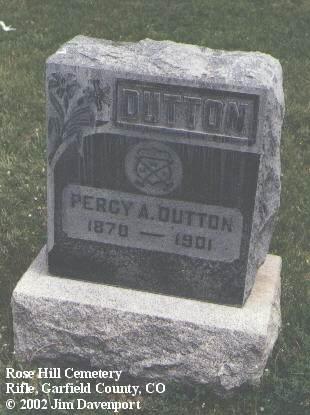 DUTTON, PERCY A. - Garfield County, Colorado | PERCY A. DUTTON - Colorado Gravestone Photos