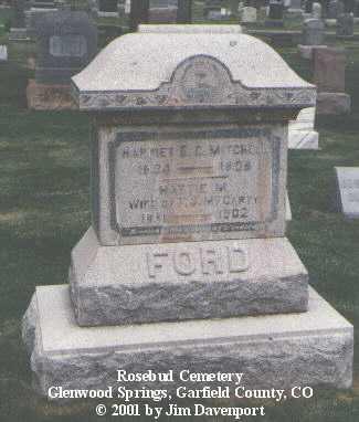 FORD, HARRIETT E. C. - Garfield County, Colorado | HARRIETT E. C. FORD - Colorado Gravestone Photos