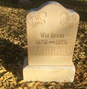 GARDNER, WM IRVIN - Garfield County, Colorado   WM IRVIN GARDNER - Colorado Gravestone Photos