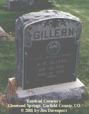 GILLERN, M. F. - Garfield County, Colorado | M. F. GILLERN - Colorado Gravestone Photos