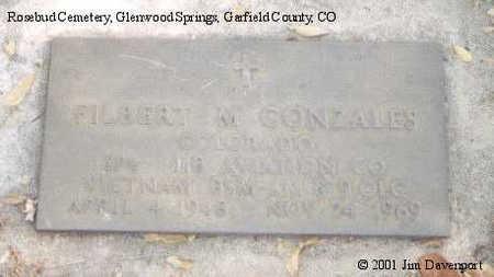 GONZALES, FILBERT M. - Garfield County, Colorado   FILBERT M. GONZALES - Colorado Gravestone Photos