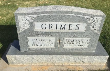 GRIMES, CAROL E - Garfield County, Colorado | CAROL E GRIMES - Colorado Gravestone Photos