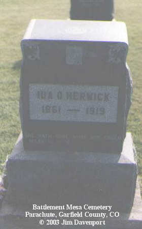 HERWICK, IDA O. - Garfield County, Colorado | IDA O. HERWICK - Colorado Gravestone Photos