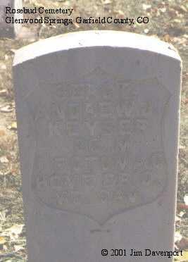 KEYSER, ANDREW J. - Garfield County, Colorado | ANDREW J. KEYSER - Colorado Gravestone Photos