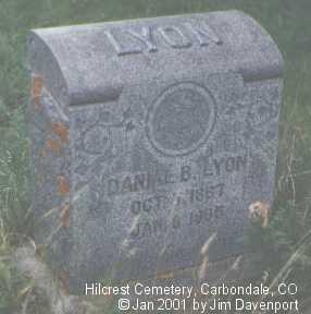 LYON, DANIEL B. - Garfield County, Colorado | DANIEL B. LYON - Colorado Gravestone Photos