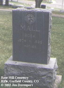 MALL, ROSA - Garfield County, Colorado | ROSA MALL - Colorado Gravestone Photos
