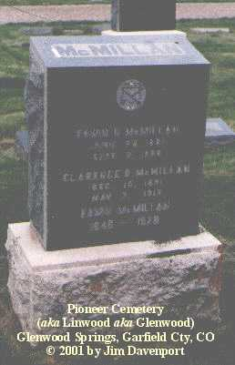 MCMILLAN, EDWIN N. - Garfield County, Colorado | EDWIN N. MCMILLAN - Colorado Gravestone Photos