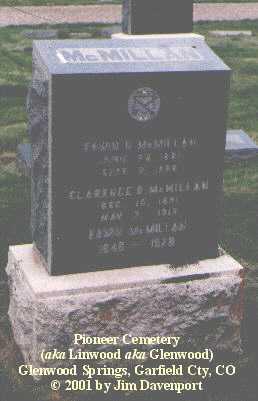 MCMILLAN, EDWIN - Garfield County, Colorado | EDWIN MCMILLAN - Colorado Gravestone Photos