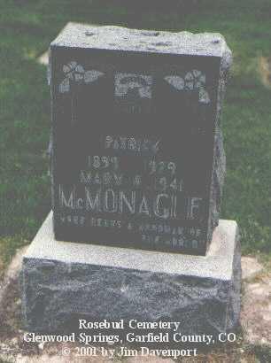 MCMONAGLE, PATRICK - Garfield County, Colorado   PATRICK MCMONAGLE - Colorado Gravestone Photos