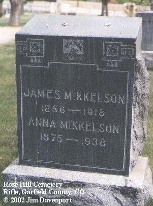 MIKKELSON, JAMES G. - Garfield County, Colorado | JAMES G. MIKKELSON - Colorado Gravestone Photos