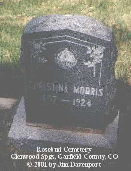MORRIS, CHRISTINA - Garfield County, Colorado | CHRISTINA MORRIS - Colorado Gravestone Photos