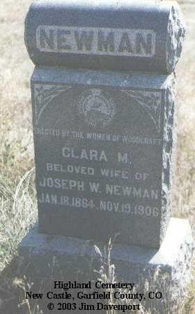 NEWMAN, CLARA M. - Garfield County, Colorado | CLARA M. NEWMAN - Colorado Gravestone Photos