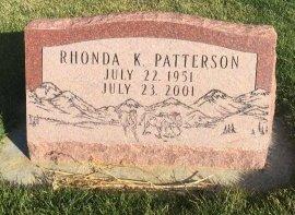 PATTERSON, RHONDA K - Garfield County, Colorado | RHONDA K PATTERSON - Colorado Gravestone Photos