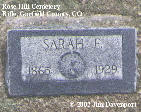 PITTMAN, SARAH F. - Garfield County, Colorado | SARAH F. PITTMAN - Colorado Gravestone Photos