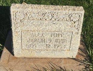 POPP, ALEX - Garfield County, Colorado | ALEX POPP - Colorado Gravestone Photos