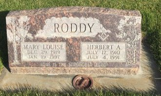 RODDY, HERBERT A - Garfield County, Colorado | HERBERT A RODDY - Colorado Gravestone Photos