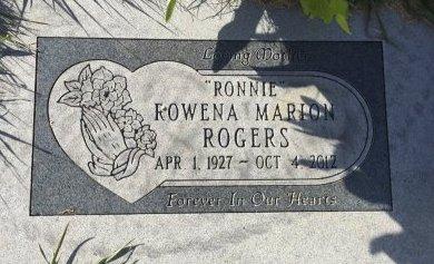 ROGERS, ROWENA MARION - Garfield County, Colorado | ROWENA MARION ROGERS - Colorado Gravestone Photos