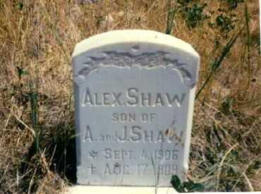 SHAW, ALEX - Garfield County, Colorado   ALEX SHAW - Colorado Gravestone Photos