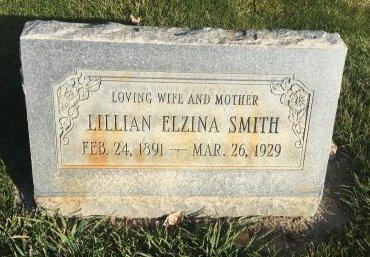 SMITH, LILLIAN ELZINA - Garfield County, Colorado | LILLIAN ELZINA SMITH - Colorado Gravestone Photos