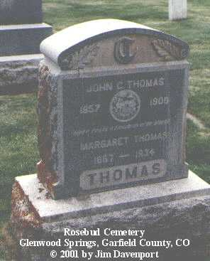 THOMAS, MARGARET - Garfield County, Colorado | MARGARET THOMAS - Colorado Gravestone Photos