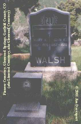 WALSH, JOHN K. - Garfield County, Colorado | JOHN K. WALSH - Colorado Gravestone Photos