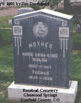 WALSH, ROSE ANNA - Garfield County, Colorado   ROSE ANNA WALSH - Colorado Gravestone Photos