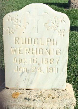 WERHONIG, RUDOLPH - Garfield County, Colorado   RUDOLPH WERHONIG - Colorado Gravestone Photos