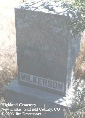WILKERSON, WILLIAM H. - Garfield County, Colorado | WILLIAM H. WILKERSON - Colorado Gravestone Photos