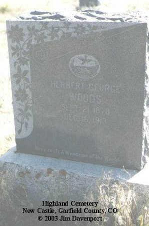 WOODS, HERBERT GEORGE - Garfield County, Colorado | HERBERT GEORGE WOODS - Colorado Gravestone Photos