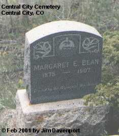 BEAN, MARGARET E. - Gilpin County, Colorado   MARGARET E. BEAN - Colorado Gravestone Photos