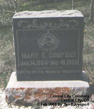 COMFORT, MARY E. - Gilpin County, Colorado | MARY E. COMFORT - Colorado Gravestone Photos