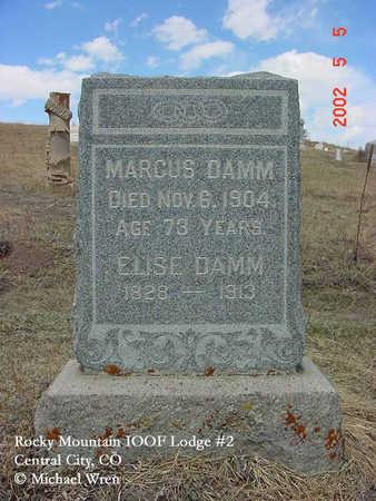 DAMM, MARCUS - Gilpin County, Colorado | MARCUS DAMM - Colorado Gravestone Photos