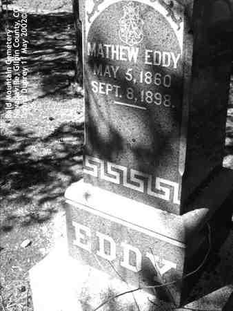 EDDY, MATHEW - Gilpin County, Colorado | MATHEW EDDY - Colorado Gravestone Photos