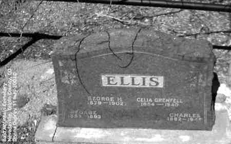ELLIS, GEORGE H. - Gilpin County, Colorado | GEORGE H. ELLIS - Colorado Gravestone Photos