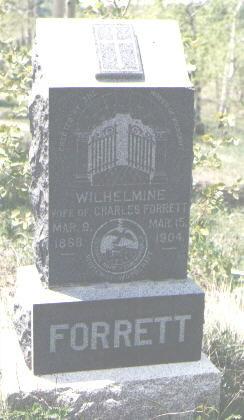 FORRETT, WILHELMINE - Gilpin County, Colorado | WILHELMINE FORRETT - Colorado Gravestone Photos