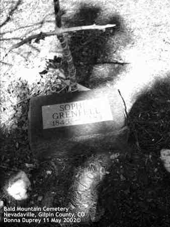 GRENFELL, SOPHIE - Gilpin County, Colorado | SOPHIE GRENFELL - Colorado Gravestone Photos