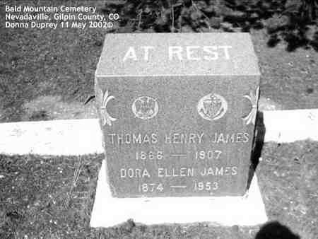 JAMES, DORA ELLEN - Gilpin County, Colorado | DORA ELLEN JAMES - Colorado Gravestone Photos