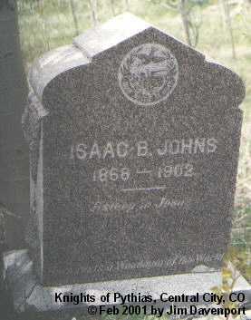 JOHNS, ISAAC B. - Gilpin County, Colorado | ISAAC B. JOHNS - Colorado Gravestone Photos