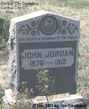 JORDAN, JOHN - Gilpin County, Colorado   JOHN JORDAN - Colorado Gravestone Photos