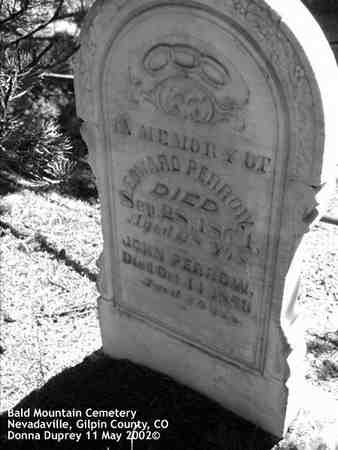 PERROW, JOHN - Gilpin County, Colorado | JOHN PERROW - Colorado Gravestone Photos