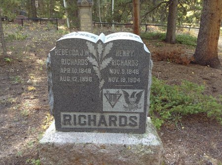 REBECCA J.W., RICHARDS - Gilpin County, Colorado | RICHARDS REBECCA J.W. - Colorado Gravestone Photos