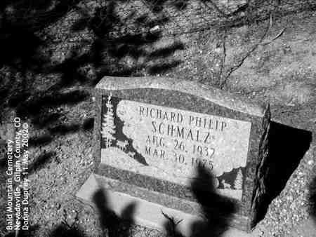 SCHMALZ, RICHARD PHILIP - Gilpin County, Colorado | RICHARD PHILIP SCHMALZ - Colorado Gravestone Photos