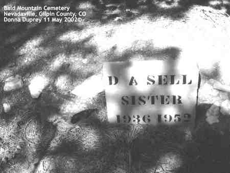 SELL, D. A. - Gilpin County, Colorado | D. A. SELL - Colorado Gravestone Photos